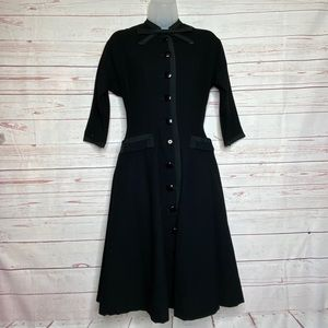 Vintage Black Wool Blend Dress R&K Originals XS/S